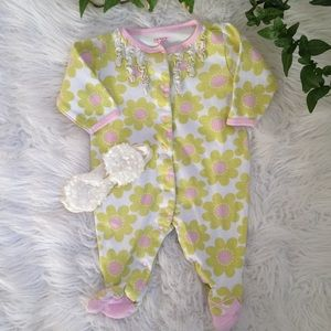 5/$25 🎄 Carters floral sleeper